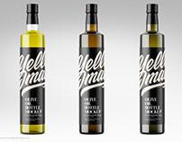 Glass Olive Oil Bottle Mockup