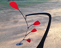 """Stabile"" vertical Iron Sculture, tribute to Calder"