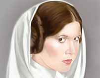 Princess Leia painted in Adobe Photoshop CC
