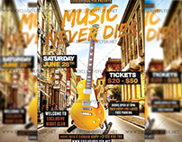 Music Never Dies - Premium A5 Flyer Template