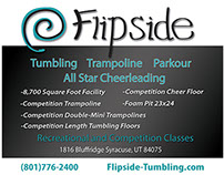 Flipside Tumbling Logo and Flyer Design