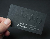 Free* Embossed Business Card MockUp