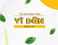 [Logo Guideline] Vì Dân Milk Tea