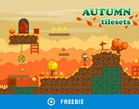 Free Platformer Autumn Game TileSet