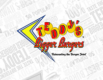 Teddy's Bigger Burger print collateral