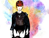 Fashion Illustration: Ulyana Sergeenko's F/W 2016