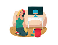 Cleaning. Illustration