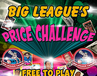 Big League Cards Price Challenge Promo Flyer