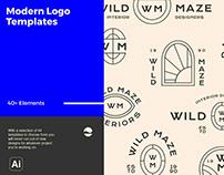 Modern Logo TemplatesDesigned byClayton Facchini