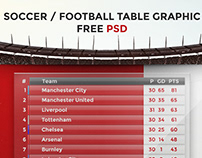 Football League Table Graphic FREE PSD