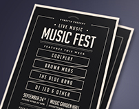 Music Fest Typography Flyer