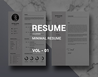 Minimal Resume vol-01
