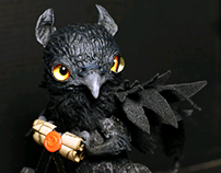 OOAK Poseable dolls: Raven Griffin
