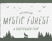 Mystic Forest - Distressed Font