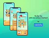 Tic Tac Toe (cartoon interface) UI/UX design