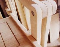 square folding armchair