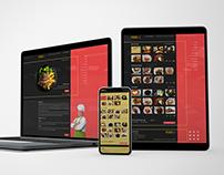 Foodie Restaurant Web UI Design