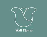 Wall Flower / Logo for florist store