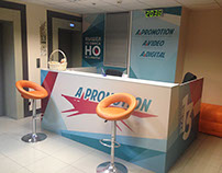 "Office reception of advertising agency ""A-Promotion"""
