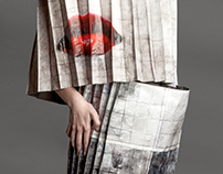 Pleated dress - experimenta paper textile