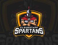 CS Spartans Mascot Logo