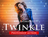 Gif Animated Twinkle Photoshop Action
