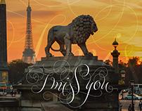 """Lettering """"Paris"""" (2015)"""