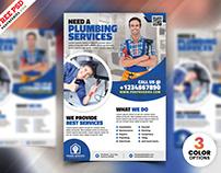 Plumbing Service Flyer Template PSD