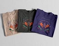 Morning Coffee Illustration T-Shirt and bag design