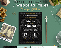 7 Vintage Items - Wedding Pack VII