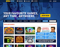 Concept for Slots Gaming Homepage