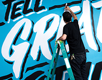 Tell Great Stories Mural