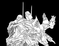 War Scene Sketches
