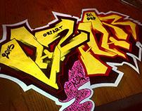 LAZHAR graffiti
