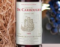 CHÂTEAU DE CARROUGES WINE LABEL