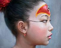 Nepal girl choosen as the Kumari goddess