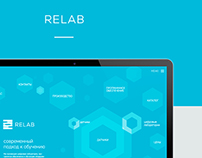 Website Design Concept for RELAB on Behance