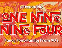 1994 • Fancy Font Family