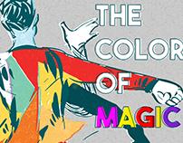 Cartel para curso acerca de uso del color