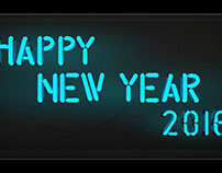 Happy New Year 2016: Neon Lights