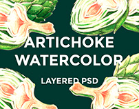 Artichoke watercolor
