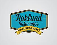 Baklund Insurance Logo & Business Card Des