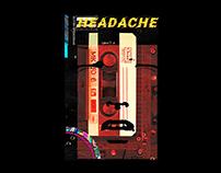 Poster titled Headache