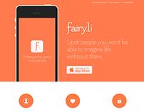 iOS App - Landing Page