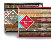 Packaging Design for Spice Tubes Gift Set
