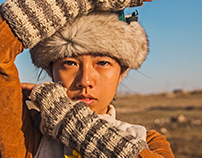 shepherdess in mongolia