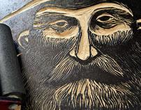 Jacinto - Woodcut print