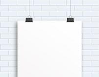Blank Poster Hanging