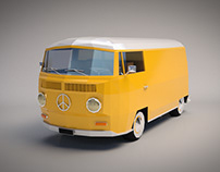 Low Poly VW Transporter Van