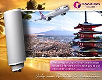 Mock up Hawaiian Airlines advertisement